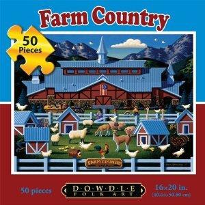 Dowdle Folk Art Farm Country 50pc 16x20  Puzzles