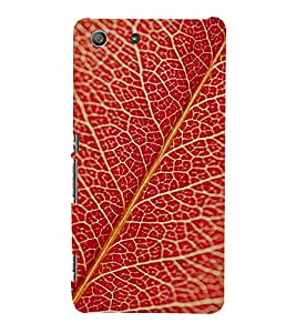 EPICCASE Red leaves Mobile Back Case Cover For Sony Xperia M5 (Designer Case)