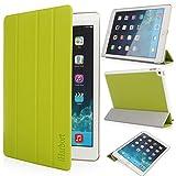 iHarbort® iPad Air 2 Hülle - Ultra Slim Leder Tasche Hülle Etui Schutzhülle Ständer Smart Cover Case für iPad 6 Generation , mit Schlaf / Wach-up-Funktion (iPad Air 2, grün)