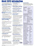 Microsoft Word 2013 Introduction Quick Reference Guide (Cheat Sheet of Instructions, Tips & Shortcuts - Laminated Card)