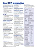 Microsoft Word 2013 Introduction Quick Reference Guide (Cheat Sheet of Instructions, Tips & Shortcuts – Laminated Card