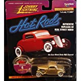 FLATHEAD FLYER * Collector #4 * Johnny Lightning 1997 HOT RODS Release Four 1:64 Scale Die Cast Vehi