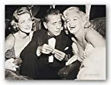 (24×32) Hollywood Triangle Marilyn Monroe Humphrey Bogart Lauren Bacall Movie Poster Print