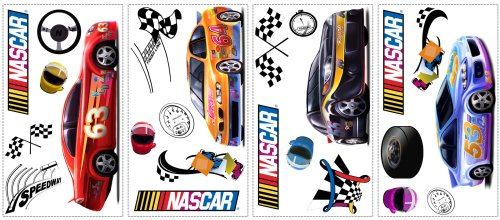 RoomMates WT1068SCS Nascar Peel and Stick Wall Decals - 1