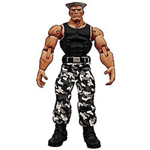 Street Fighter IV Survival mode Guile (black-and-white camouflage)