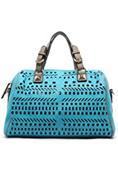 MyLUX Studded PU Leather or Laser Cut texture Satchel bag