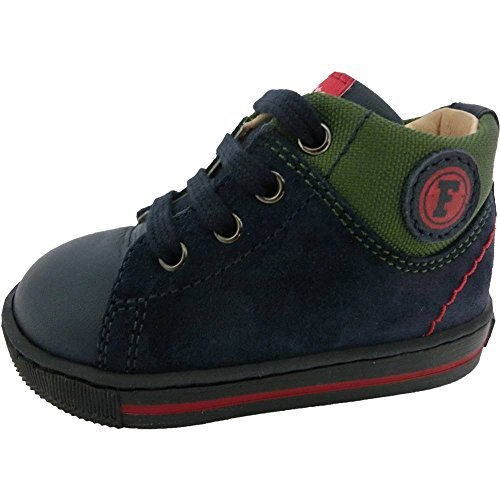 Falcotto scarpe bimbo unisex 1095 - Sneakers Falcotto by Naturino Holt Vitello/Cordura, Navy/Verde, Blu (21)
