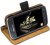 mumbi Etui Cuir Samsung Galaxy Ace 3 en Book Style - Etui � Clapet Portefeuille �tui Housse Protecteur Pochette Bookstyle support / Pied Pivotant Noir