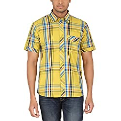ALLTIMES Men's Yellow Color Shirts