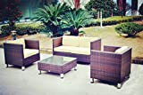New Rattan Wicker Weave Garden Furniture Patio Conservatory Sofa Set