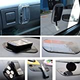 In Car Holder Non Slip Sticky Pad Gadget Mat For Mobile Phone Samsung Smart Phone iPhone SatNav etc (Black/Clear) Picture