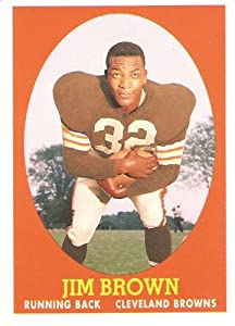 2007 Topps Turn Back The Clock # 22 Jim Brown / Cleveland Browns / NFL Football Card - Mint Condition - In Protective Display Case
