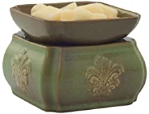 Candle Warmer and Dish Spring Damask