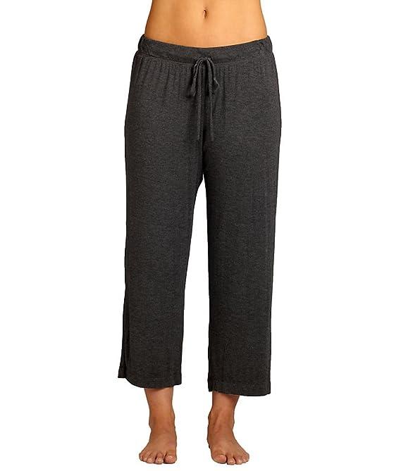DKNY Women's Plus Size Urban Essentials Capris Black Pajama Bottoms 1X