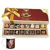 Chocholik Belgium Chocolates - 8 Milk And 8 White Attractive Chocolate Box With Diwali Special Coffee Mug - Diwali...