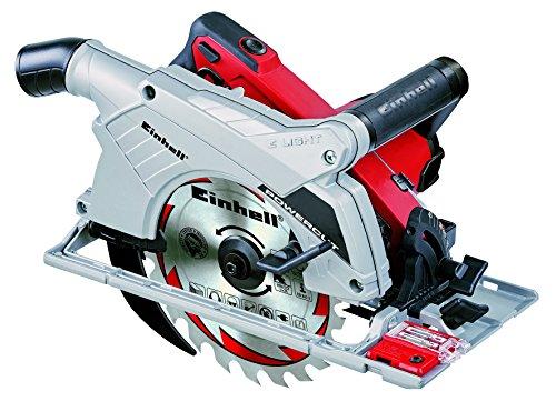 Handkreissäge TE-CS 190 (1500 W, max. 66 mm, SägeblattØ 190 mm, 24 Zähne, LED-Sägestellenbeleuchtung, Absaugadapter, Parallelanschlag)