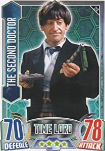 Alien Attax - 210 THE SECOND DOCTOR (Time Lord) Individual Trading Card.