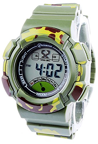 8Years- 1 Stueck Camouflage Kinder Outdoor Digitaluhr Armbanduhr Stoppuhr Wasserdicht