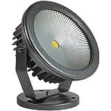GOODGOODS 最新 COB LED投光器 30W 電球色 作業灯 3000LM 【COBタイプLEDパッケージ】【二年保証】(30W CO30)広角 防水 看板灯 家庭用コンセントでOK