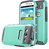 Galaxy S3 Case, S3 Case - ULAK 2in1 Hybrid Rubber Matte Slim Hard Case Cover for Samsung Galaxy S3 III I9300 (Mint Green/Grey)