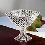 Fifth Avenue Crystal Muirfield Pedestal Square Compote Serving Bowls