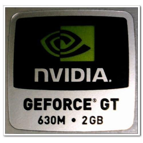 Amazon.com : NVIDIA GEFORCE GT 630M 2GB Logo Stickers Badge for Laptop