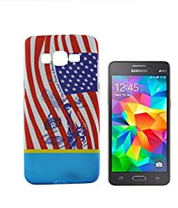 Exclusive Rubeerised Back Case Cover For Samsung Galaxy Core 2 G355H - Flag
