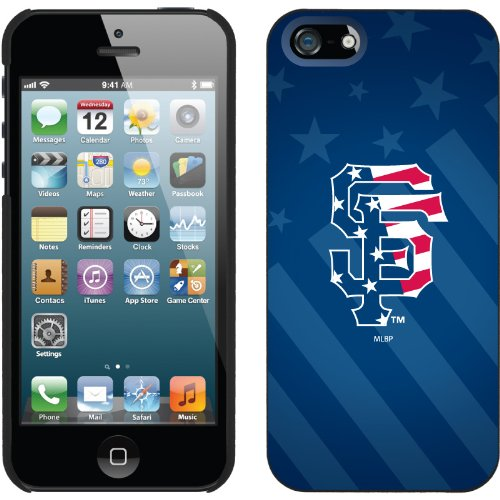 Special Sale San Francisco Giants - USA Blue design on a Black iPhone 5 Thinshield Snap-On Case by Coveroo
