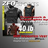 (Weekly Special Sale - 50% Off/5 Days Only !) NEW! ZFO-40LBS Adjustable Weighted Vest (WEIGHTS INCLUDED.One size fits all.)