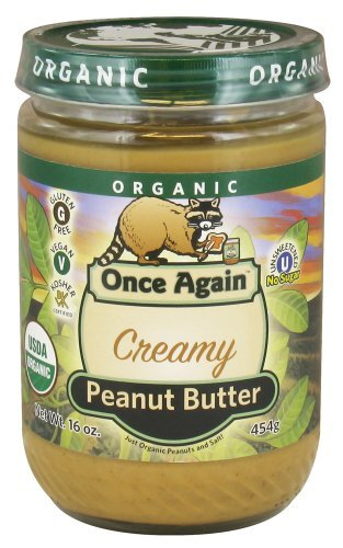 Once Again - Organic Peanut Butter Creamy - 16 Oz. (Pack of 6) temptations creamy dairy flavor treats for cats 16 ounce