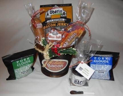 Holiday Bacon Bucket Gift Basket