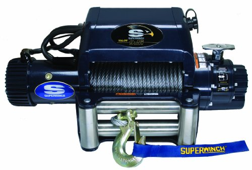 Superwinch 1695210 Talon 9.5I 9,500 Lb Winch, with Roller Fairlead and Wire Rope