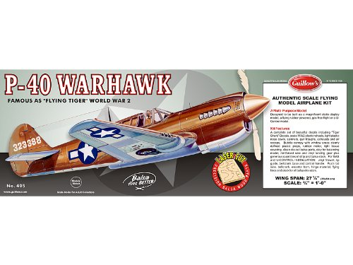 Guillow Curtiss P40 Warhawk Laser Cut Kit 28