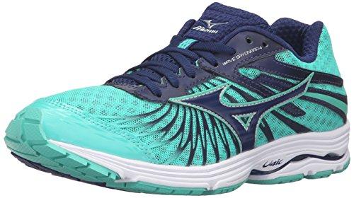 mizuno-womens-wave-sayonara-4-w-running-shoe-blue-depths-electric-green-75-b-us