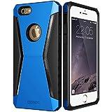 iPhone6s ケース シリコン ESR iPhone6 ケース 耐衝撃 TPU 液晶保護フィルムゲット ハード アルミ/TPU/PC三つ重構造 滑り防止 iPhone6/ iPhone6sバンパー (ブルー)