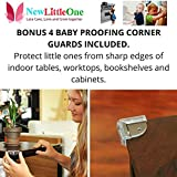 6-Child-Safety-Locks-Bonus-4-Baby-Proofing-Corner-Guards-Reusable-with-Extra-3M-Adhesive-Baby-Proofing-Cabinets-Drawers-More-Buy-Your-Baby-Proofing-Kit-Today