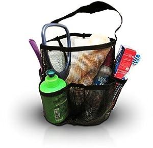 Greenery Premium Oxford Cloth Mesh Storage Tote Bag Organizer 8 Pockets Durable Bathroom Storage Bag Pouch Toilet Washing Bag for Cosmetics, Toiletries, Towels, Brushes,Toys, etc