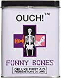 "Get Your Tin of (24) Funny Bones Adhesive Latex Bandages, 3"" x 3/4"""