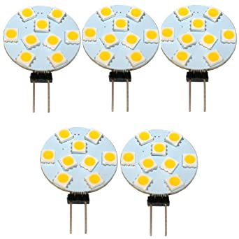 set 5 led lampen mit g4 stiftsockel 9 smd ac dc 12 30v warmweiss beleuchtung. Black Bedroom Furniture Sets. Home Design Ideas