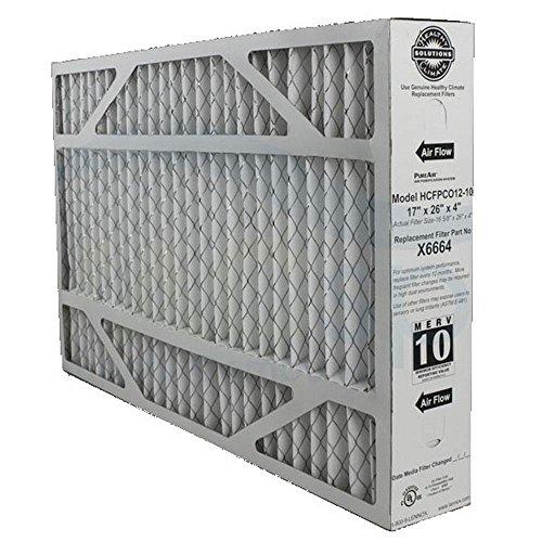"""Heating, Cooling & Air Lennox X6664 MERV 10 Filter - 17"""" x 26"""" x 4"""""""