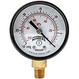 "Winters PEM Series Steel Dual Scale Economical All Purpose Pressure Gauge with Brass Internals, 30""Hg Vacuum/kpa, 2"" Dial Display, +/-3-2-3% Accuracy, 1/8"" NPT Bottom Mount"