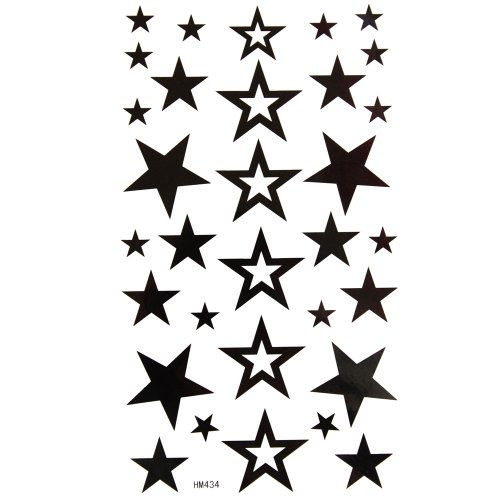 king-horse-waterproof-non-toxic-temporary-tattoos-new-fixed-hollow-five-pointed-star
