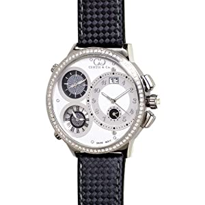 Curtis & Co. Big Time World 57mm White Dial 3ct VSI Diamond Numbered Limited Edition Watch