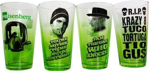 AMC Breaking Bad Green Fade 4pk of Pint Glasses