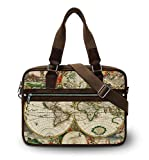 Map Fashion Unisex Canvas Cross Body Messenger Shoulder School Bag Briefcase Casual Handbag