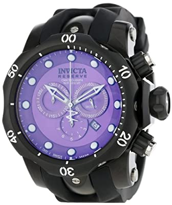 Invicta 11157 Reserve Men's Venom Ocean Quest II Swiss Quartz Chronograph Polyurethane Strap Watch