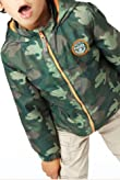 Funnel Neck Hooded Camouflage Jacket with Shower Resistant [T88-9068U-S]