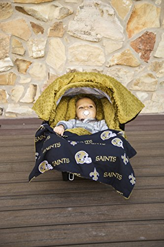 NFL New Orleans Saints The Whole Caboodle 5PC set - Baby Car Seat Canopy with matching accessories