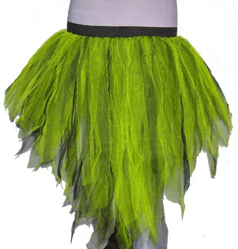 Neon Lime Black 7 Layers Trashy Tutu Skirt Peacock Bustle Dance Fancy Costume Dress Party Halloween Christmas Free Shipping USA