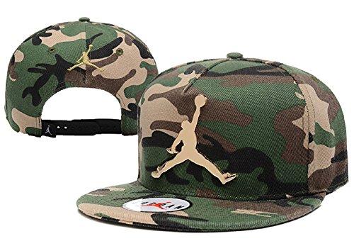 Cappello Air Jordan regolabile Hip Hop Sport Fans Hyst Unisex eresen Logo cappellino da Baseball (camuffamento, ferro)